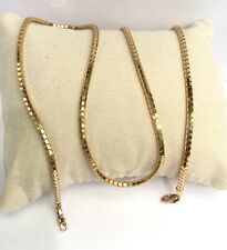 "18k Solid Yellow Gold Shiny Unisex Italy Snake Chain Necklace, 24"", 12.42 Grams"