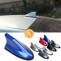 Blue Car Shark Fin Roof Antenna FM/AM Radio Signal Waterproof Aerial Universal