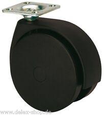 Möbelrolle Platte 100 mm Weichbodenrolle für Teppich Schwerlastrolle Rolle Rad