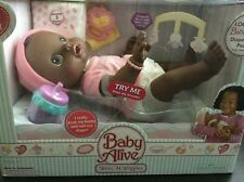 New Baby Alive Wets N Wiggles Ethnic African American Original 2006 Girl Doll