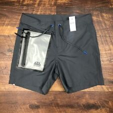 "NWT SUNDEK Men's BS/RB Contour Waist 16"" Special Pocket Gray sz 28 Trunks Shorts"