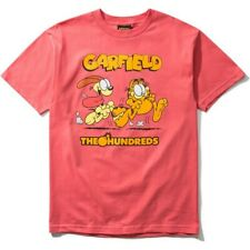 The Hundreds x Garfield Chase Tee Coral Size XL NWT
