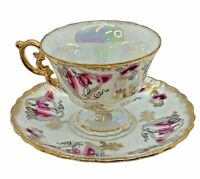 Vintage Iridescent Gold Trim  Royal Sealy China Japan Tea Cup & Saucer
