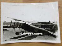 Altes Foto französisches Flugzeug / Doppeldecker / Kennung 2. WK