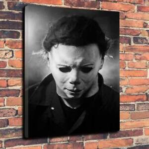 Halloween - Michael Myers Printed Canvas Picture Multiple Sizes 30mm Deep Frame