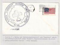 Apollo 7 ..  FDC ....  Beleg vom Nebenbergungsschiff  USS Norfolk