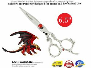 "6.5""Hairdressing Barber J2 Stainless Steel Hair Cutting Scissors Shears+Pouch"
