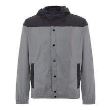 "MERC London. Shower Jacket. Hooded. Navy/grey. Medium. BNWT. 40""chest"
