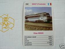 24 EK LOKS C2 SNCF FRANCE KLAS 68000 TRAIN TREIN KWARTET KAART,
