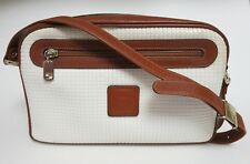 "VINTAGE STEPAN SERPIAN ""GIRL"" WHITE/BROWN SHOULDER BAG / HANDBAG PURSE ITALY"