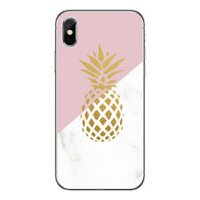 For iphone 7 8 PLUS X 6 6S 5 Marble Pink Pattern Soft TPU Slim Phone Case Cover