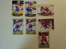 LOT OF 7 AUTOGRAPHED Montreal Canadiens Signed NHL HOCKEY CARDS UPPER DECK Etc.