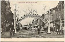View on Mahoning Street in Punxsutawney PA Postcard