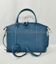 fe4b85c7ce8b Gucci Micro Guccissima Medium Dome Top Handle with Detachable Strap Deep  Cobalt