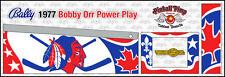 Bally Bobby Orr POWER PLAY PINBALL CABINET STENCILS  • Pinball Pimp PREMIUM • •