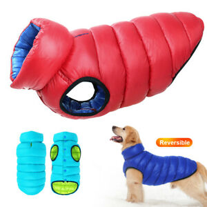 Waterproof Small Large Dog Clothes Winter Warm Jacket Padded Dog Vest Coat S-4Xl