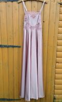 Wartime Vintage Victorian Edwardian Pink Lace Ribbon Nightdress Lingerie 10 12