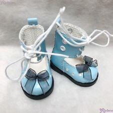 Mimiwoo Yo SD 1/6 bjd Doll Shoes Lace Hole Boots Blue  (for Foot 4.5cm long)