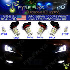6 Piece Super Bright White Pro Front End LED Upgrade Kit 9th Gen Accord 4dr 2dr