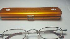 Classic Mini +2.00 Presbyopia Reading Glasses w/Slim Pocket Pen Clip Hard Case
