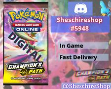 Champion's Path x 50 Pokemon In-Game Booster Send Fast TCGO PTCGO Online Code