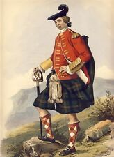 ULRIC KENNEDY Orig McIAN Hand Clrd Litho CLANS of the SCOTTISH HIGHLANDS 1847