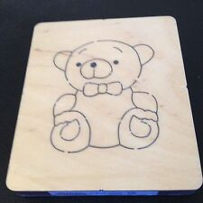 "CROSS-CUTS SMALL WOODEN DIE 5""x4.25 TEDDY BEAR #1 *SIZZIX BIG SHOT, BIG SHOT PRO"