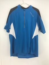Endura Men's Blue Half Zipper Short Sleeve Cycling Jersey Size XXL
