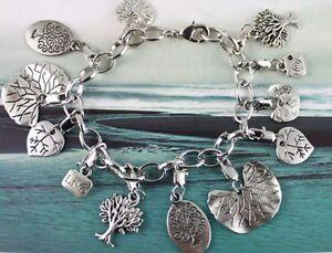 3Pcs Tibetan silver TREE  charm bracelets #20120