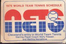 1976 Cleveland Nets World Team Tennis Schedule 101917jh