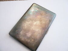 VINTAGE QUALITY SILVER PLATED Art Deco 1930,S CIGARETTE CASE IDEAL SIZE CARDS
