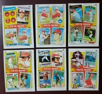 1986 Topps #2-#7  THE PETE ROSE YEARS *Complete 6 Card Set* (NM-MT) SWEET CARDS!