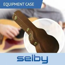 Key Lockable PVC Hard Guitar Case Brown Jumbo for Acoustic or Dreadnought XW