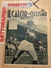 Il Calcio E Ciclismo Illustrato N.12 Anno 1952 Pareggio Rossonero