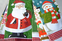 3 x Christmas 100% Cotton Tea Towels Different designs.  Great Fun  Nice Gift
