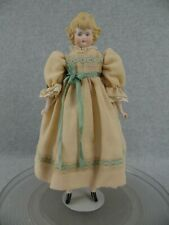 """12"""" artist antique reproduction bisque head Parian Doll w wavy molded hair"""