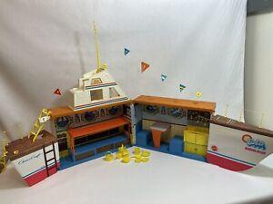 Barbie Dream Boat Vintage Playset Ship Boat Bunk Beds Dining Kitchen 1974 Mattel