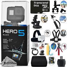 GoPro Hero 5 Black 4K30 Ultra HD, 12MP, Wi-Fi Waterproof Action Camera -64GB Kit