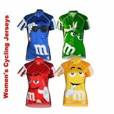 Women's M&M Cycling Bicycle Jersey Blue Green Red Yellow