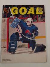 Goal NHL Magazine North Stars vs Quebec Nordiques Hockey 1986 Program J64822