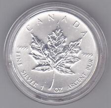 2012 Canadian Silver Maple Leaf Bullion Coin, BU, 1 Troy Oz, .9999 Fine Silver