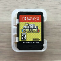 New Super Mario Bros. U Deluxe (Nintendo Switch, 2019) Cartridge and Clear Case