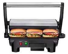 Panini Press Grill Gourmet Sandwich Maker Non Stick Burger Bread Steak Cooker