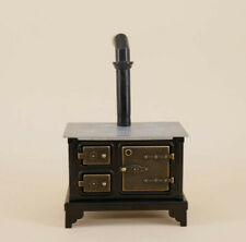 dollhouse miniatures furniture 1:12 Metal Iron Kitchen Stove with Long Chimney