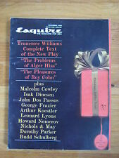 December 1960 Esquire Ingemar Johansson Tomi Ungerer Tennesse Williams 1st pub