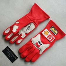 More details for michael schumacher signed f1 gloves - helmet - certificate showing photo proof