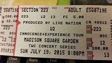 1 Ticket U2 @ Madison Sq Garden  NYC :223 Row 12  7/19  GREAT SEAT !!