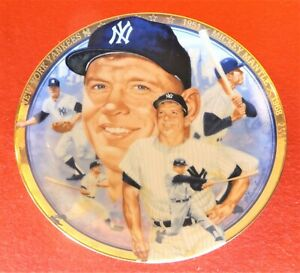 """MICKEY MANTLE 1992 Hamilton Collection 6.5"""" NIB #d Plate #3383D - Yankees"""