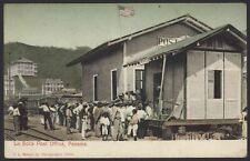 More details for panama. la boca. que at la boca post office by a railway line. vintage postcard