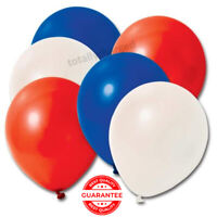 Red White Blue Mix Latex Balloons VE Day Street Party Royal Patriotic UK Flag